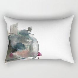 Begin: a minimal abstract mixed media piece Rectangular Pillow