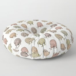 Hungry Kiwis – Cool Earth Tones Floor Pillow
