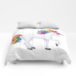 daydreamer (rainbow unicorn) Comforters