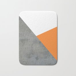 Concrete Tangerine White Bath Mat