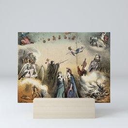 Raphael's Prophetic Almanack: an shipwreck, Cholera, and Hibernia with Britannia (1872) Mini Art Print