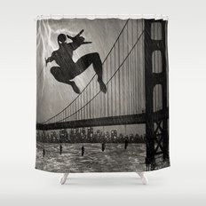 Spider-Man Walk Shower Curtain