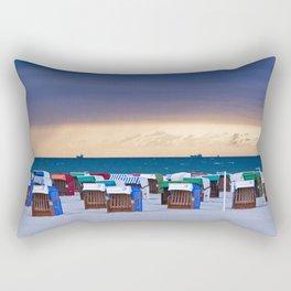 BEACH CHAIRS on the BALTIC SEA Rectangular Pillow