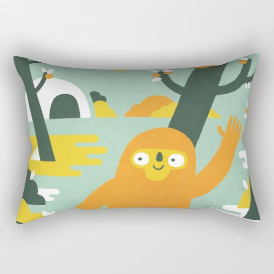 Mango Hunter Rectangular Pillow
