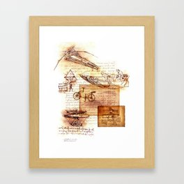 After Leonardo Framed Art Print