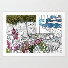 The Corner Garden Art Print