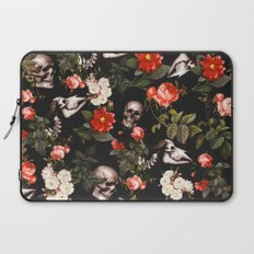 Floral and Skull Pattern Laptop Sleeve