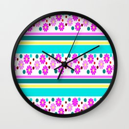 COLORFUL FLOWER Wall Clock