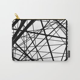 Abstract black and white . Line 2 . Carry-All Pouch