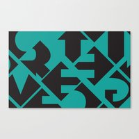 word Canvas Prints featuring Word by Jenny Ohlsson