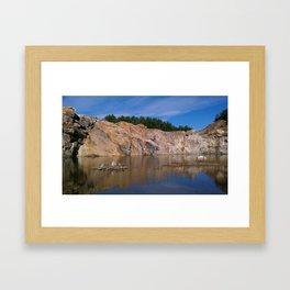 morning quarry beauty Framed Art Print