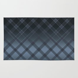 Dark gray pattern in the forward cage on satin grey background . Rug