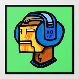headfone Canvas Print