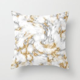 Gold Speckled Marble Throw Pillow