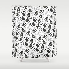 penguin print Shower Curtain