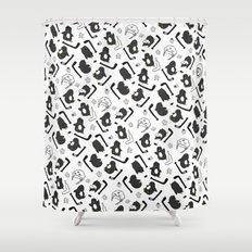 penguin print Shower Curtain