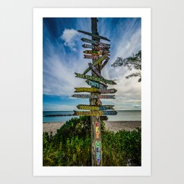 Destination Key West Art Print