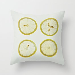 Lemon Square Throw Pillow