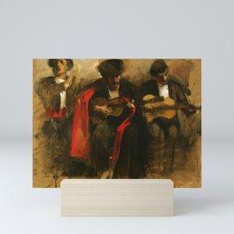 "John Singer Sargent ""Study for Seated Musicians for El Jaleo"" Mini Art Print"