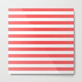 Stripes (Red & White Pattern) Metal Print