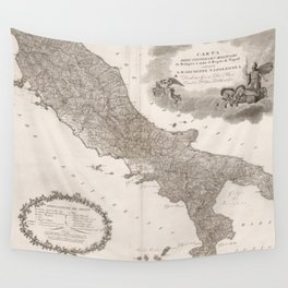Vintage Map of Italy (1808) Wall Tapestry