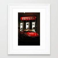 ferrari Framed Art Prints featuring Ferrari by Monica Cadena