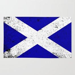 Scotish Flag Grunge Rug