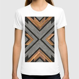Urban Tribal Pattern 2 - Concrete and Wood T-shirt