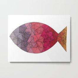 rainbow fish Metal Print