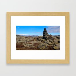 Land of Fire and Ice 5 Framed Art Print