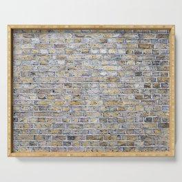 Old brick british wall Serving Tray