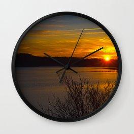 Sunrise at Little Seneca Lake Wall Clock