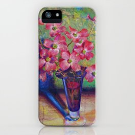 Dogwood flowers in a vase iPhone Case