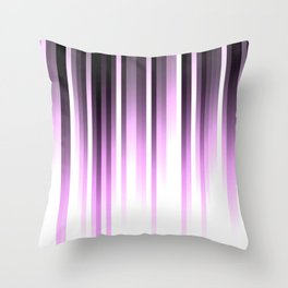 Ultra violet madness, dark shades lines print Throw Pillow