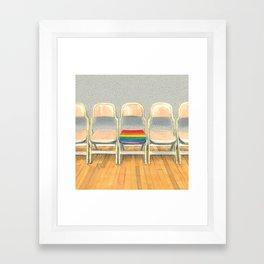 Rainbow Chair Framed Art Print