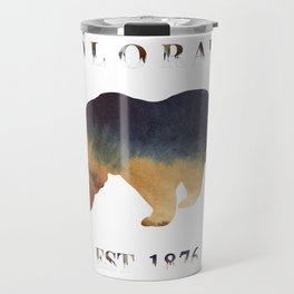 Watercolor Bear Colorado Established 1876 Travel Mug