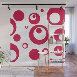 Circles Dots Bubbles :: Geranium Inverse Wall Mural