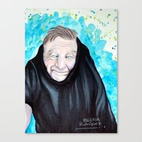 robin williams Canvas Prints featuring Robin Williams  by Melissa Rodriguez