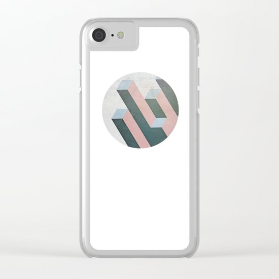 Linear Geometry Clear iPhone Case