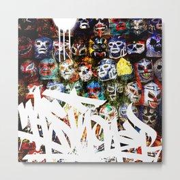 Graffiti Luchadores Metal Print
