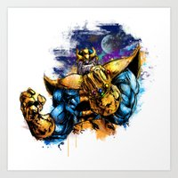 thanos Art Prints featuring Thanos by Vincent Vernacatola