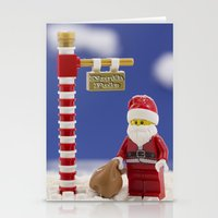santa Stationery Cards featuring Santa by Pedro Nogueira
