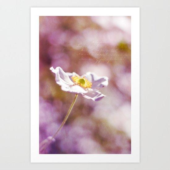 WHITE SOLITAIRE Art Print
