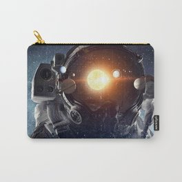 Astronaut helmet head in outer space galaxy Carry-All Pouch