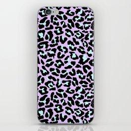Pastel leopard fur III iPhone Skin