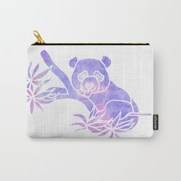 Purple panda silhouette Carry-All Pouch