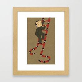snakes and ladder Framed Art Print