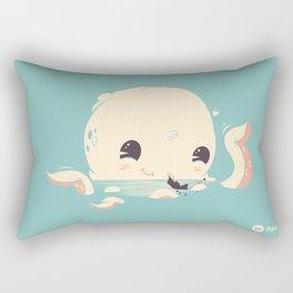 Adorable Octopus Battle Rectangular Pillow