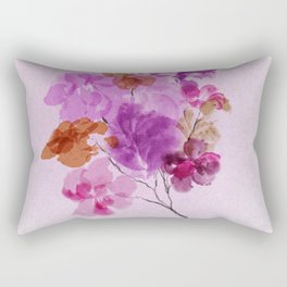 A Floral Sprig Rectangular Pillow
