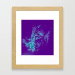 Subdued, teal Framed Art Print